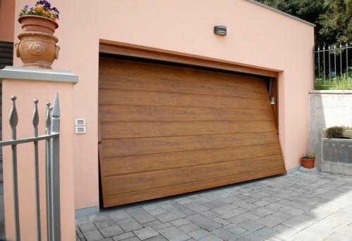 Sunset porta basculante linea acciaio simil legno porte - Prezzo porta basculante garage ...
